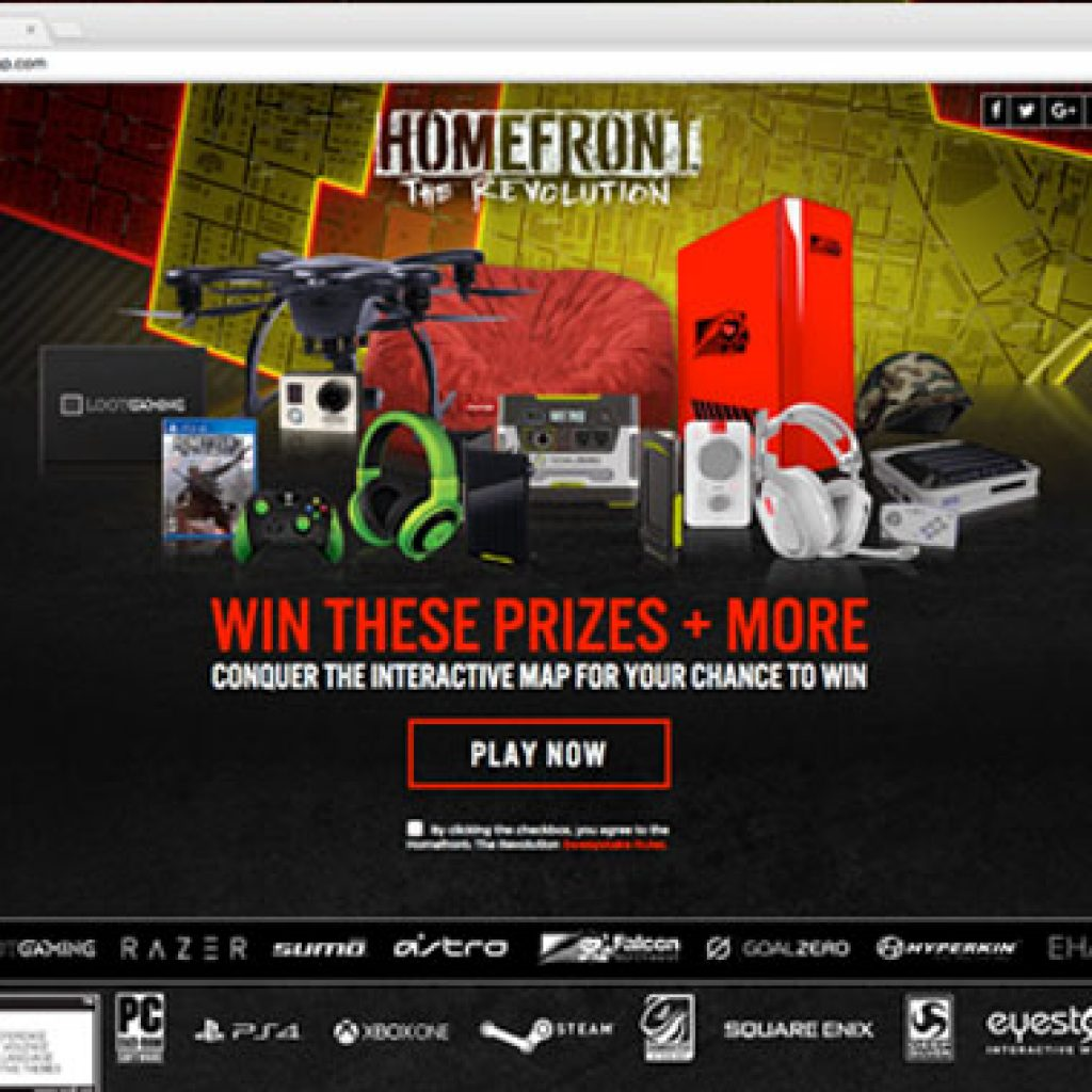 Homefront: The Revolution - Landing Page